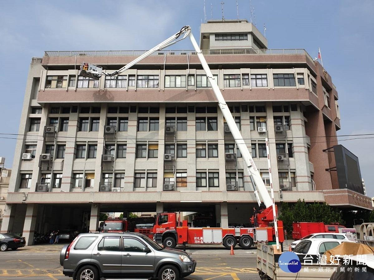 提升高樓救災效能 彰縣消防局增購50公尺雲梯消防車