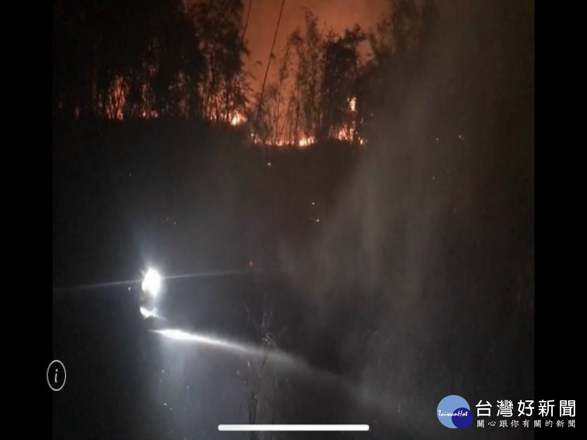 大甲火警東北季風助威聲勢大 消防隊全員努力滅火有成保民財