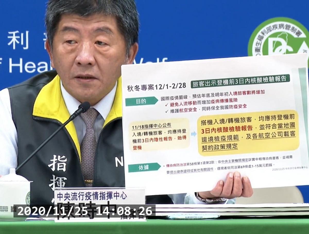 武肺秋冬防疫專案12/1啟動 境外入台旅客三情況可免附PCR報告