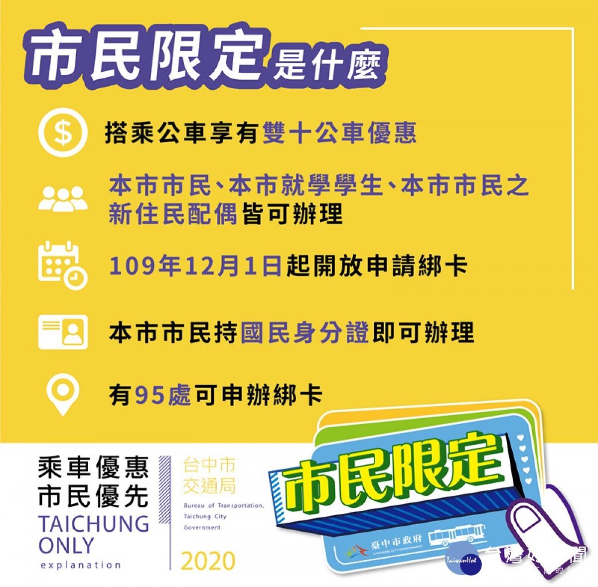 台中雙十公車市民限定 綁卡作業明日開跑