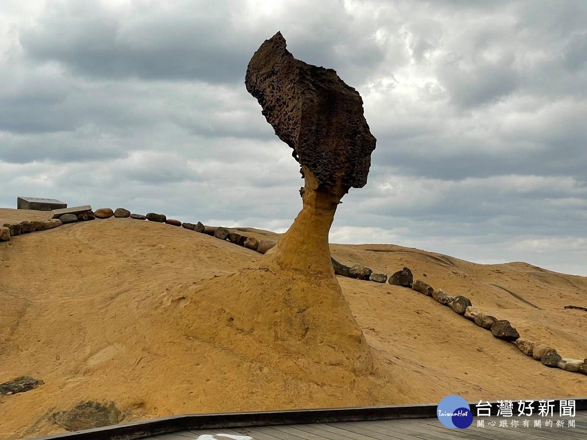 新北野柳地質公園正名 女王頭地景價值再升級