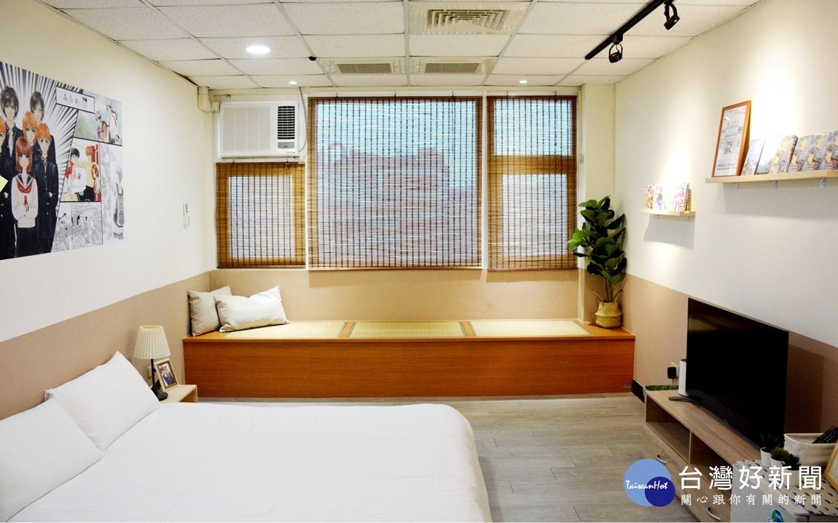中華大學實習旅館啟用 森永愛漫畫房吸睛