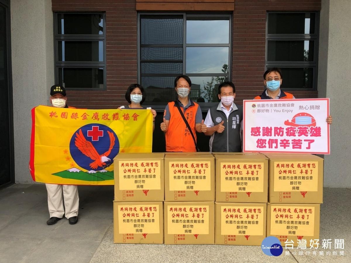 救難協會捐贈小農雞蛋吐司 為一線抗疫人員加油打氣
