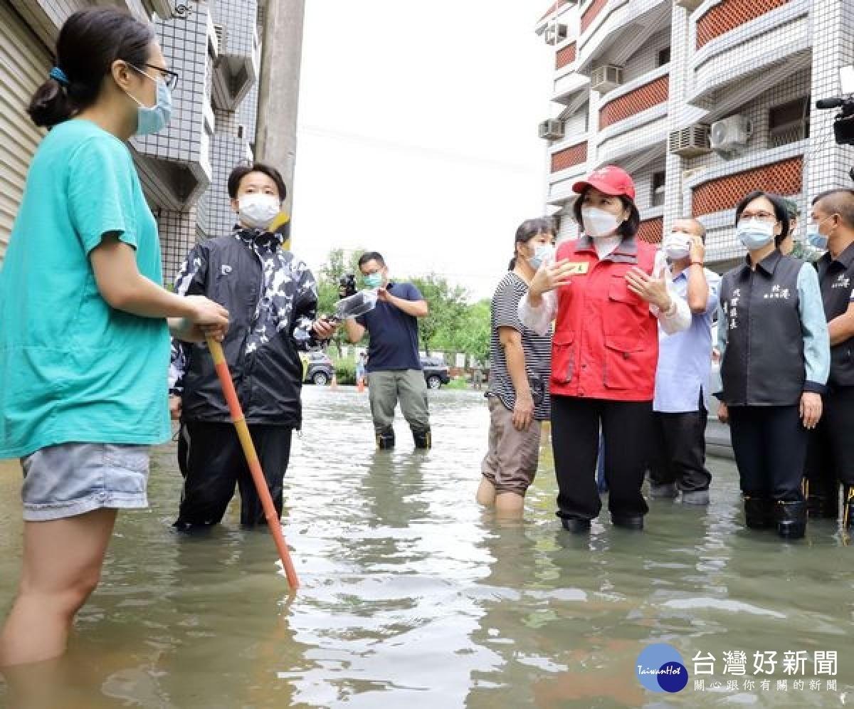 雲林沿海時雨量破百 張麗善勘災通盤檢討