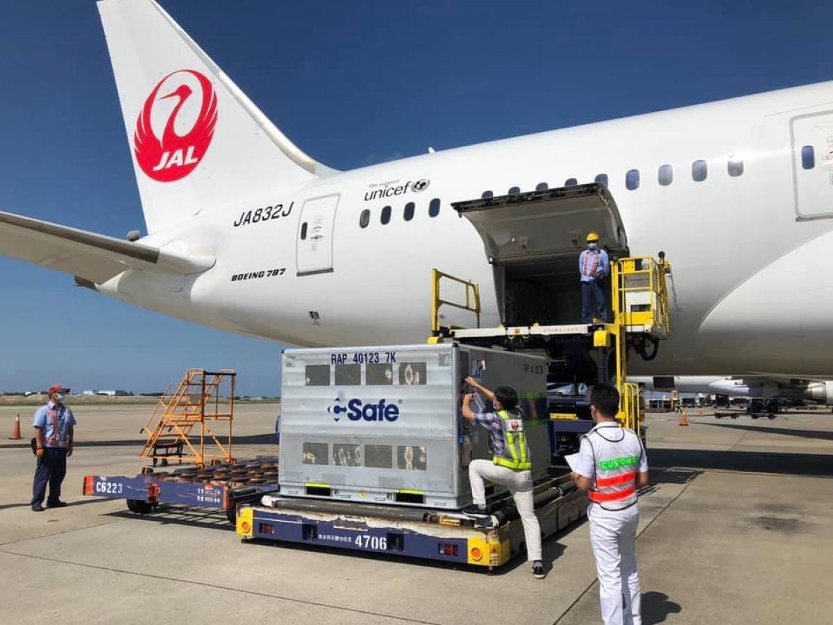 日本捐贈50萬劑AZ疫苗抵台 效期至11/26、11/30
