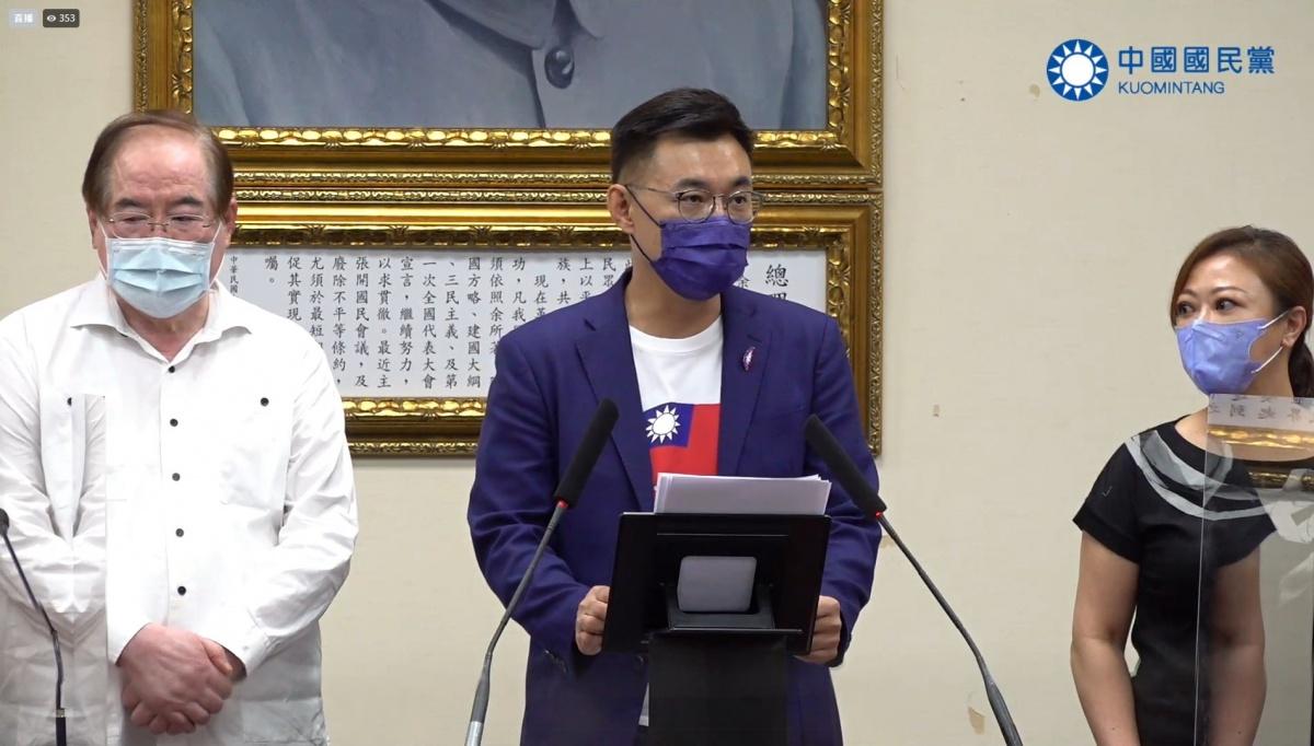 國民黨主席選舉 江啟臣宣布敗選:恭喜朱立倫當選